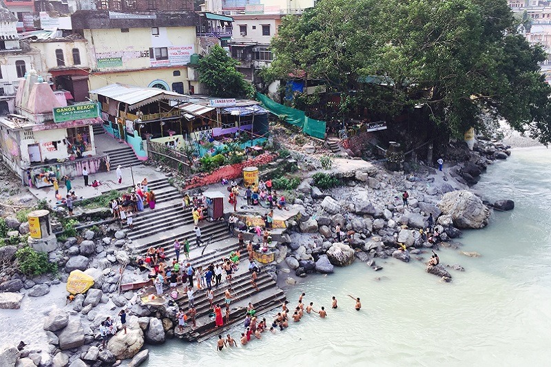 Baño en el río Ganges