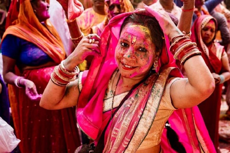 Festival del Holi en la India